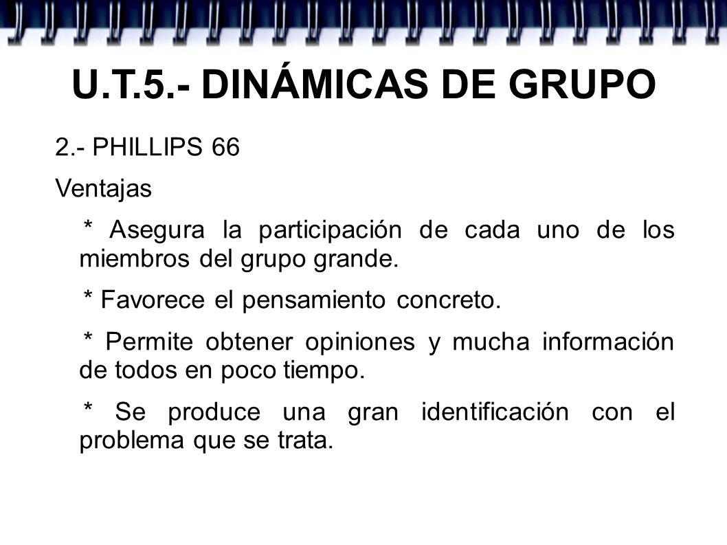 U.T.5.- DINÁMICAS DE GRUPO 2.- PHILLIPS 66 Ventajas