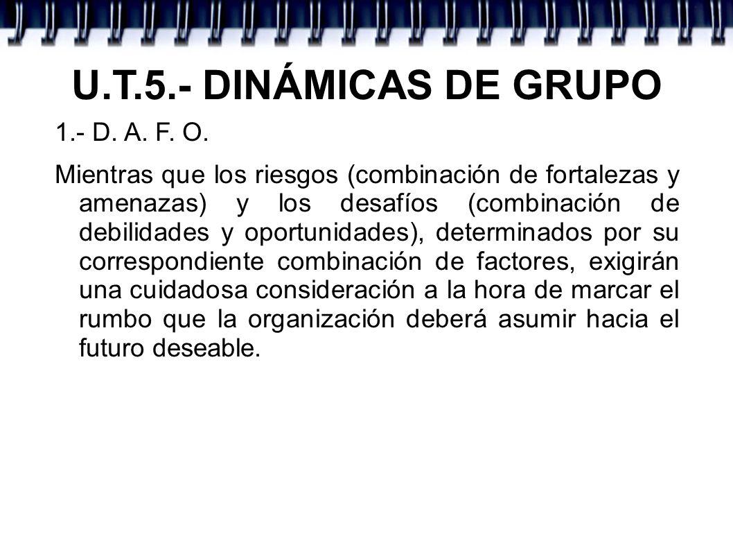 U.T.5.- DINÁMICAS DE GRUPO 1.- D. A. F. O.