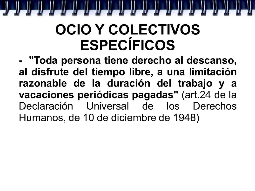 Criterios de la OCIO Y COLECTIVOS ESPECÍFICOS