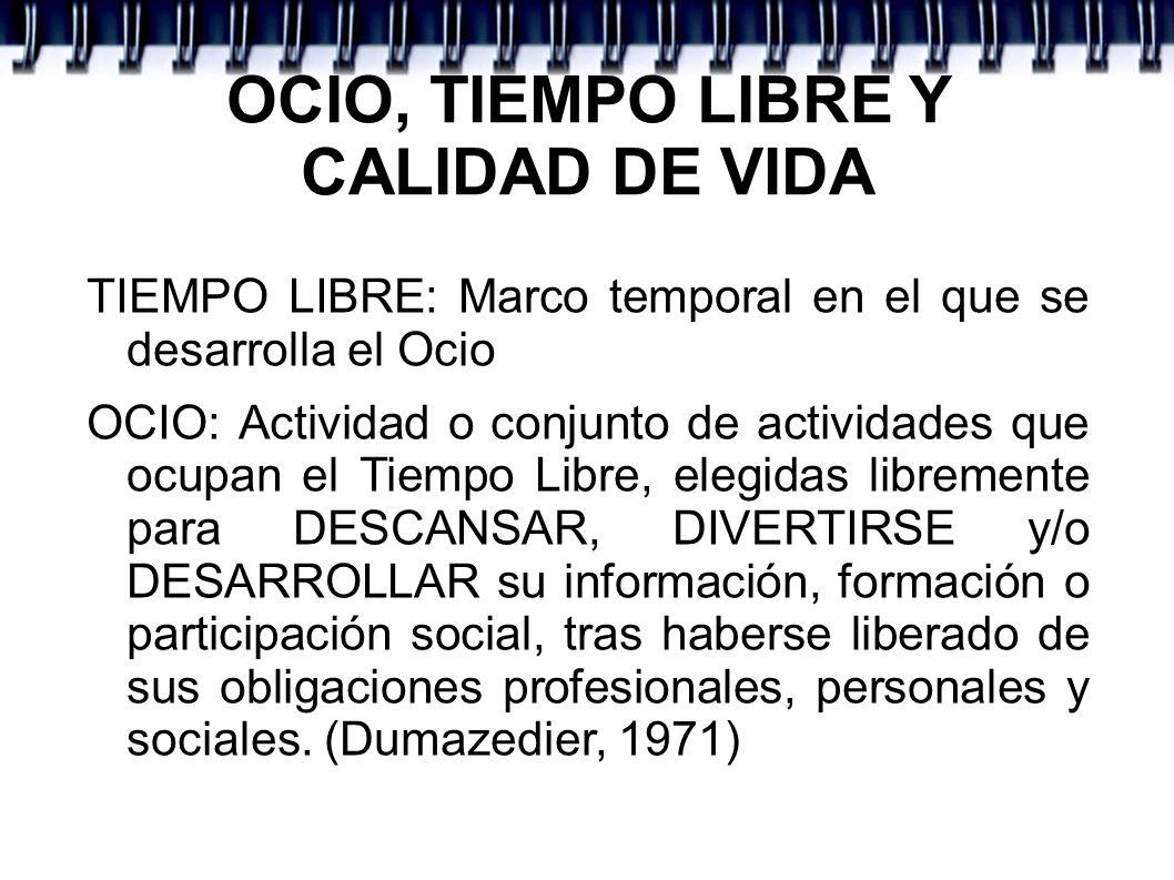 OCIO, TIEMPO LIBRE Y CALIDAD DE VIDA