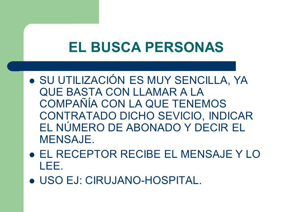 EL BUSCA PERSONAS