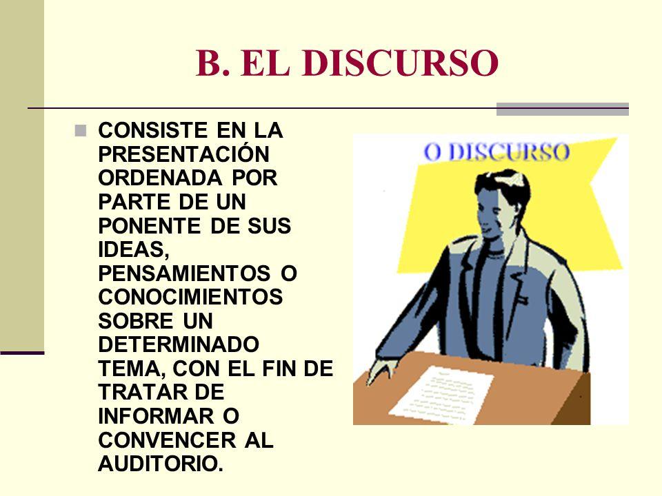 B. EL DISCURSO
