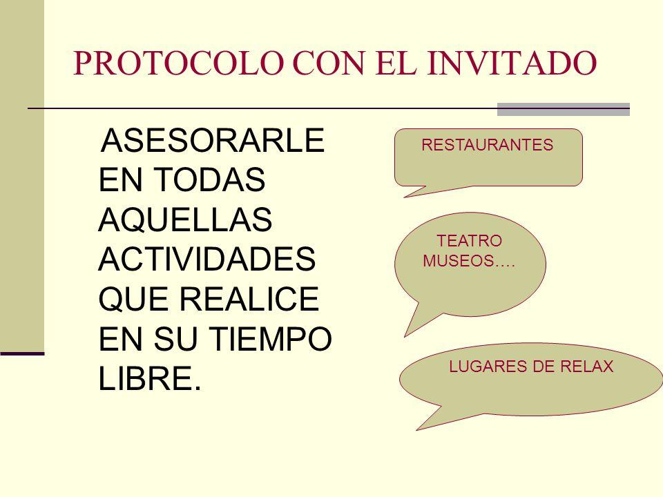 PROTOCOLO CON EL INVITADO