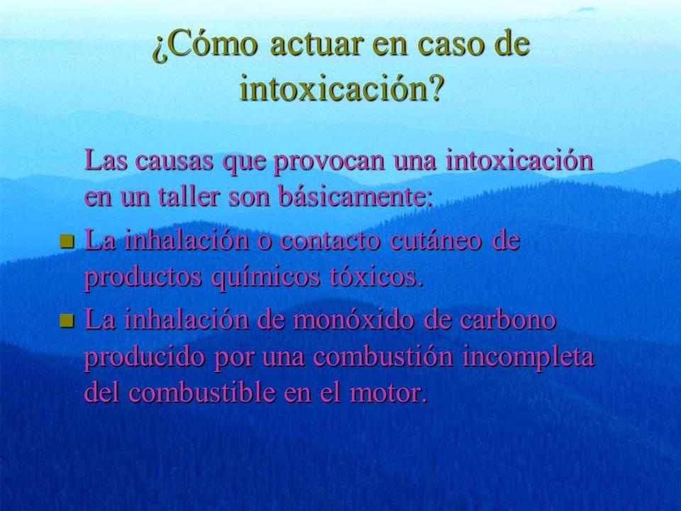 ¿Cómo actuar en caso de intoxicación