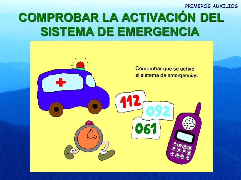 COMPROBAR LA ACTIVACIÓN DEL SISTEMA DE EMERGENCIA
