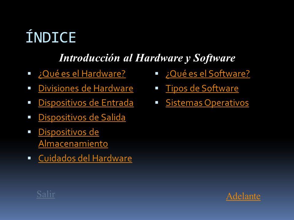 Introducción al Hardware y Software