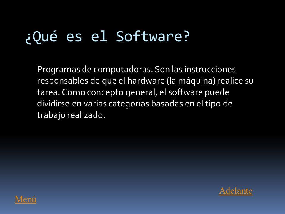 ¿Qué es el Software Adelante Menú