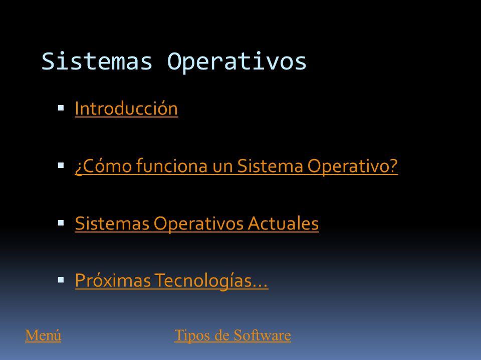 Sistemas Operativos Introducción ¿Cómo funciona un Sistema Operativo
