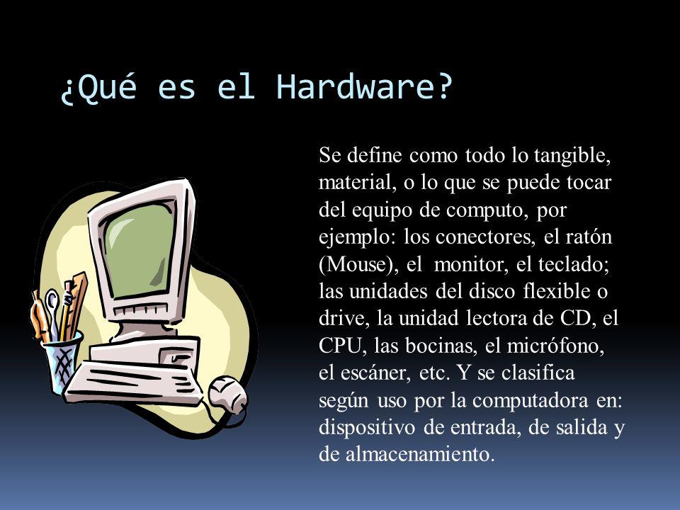 ¿Qué es el Hardware