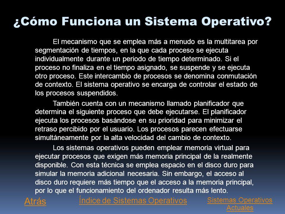 ¿Cómo Funciona un Sistema Operativo
