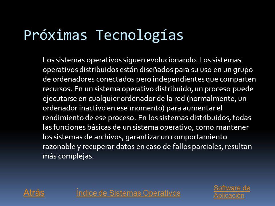 Índice de Sistemas Operativos