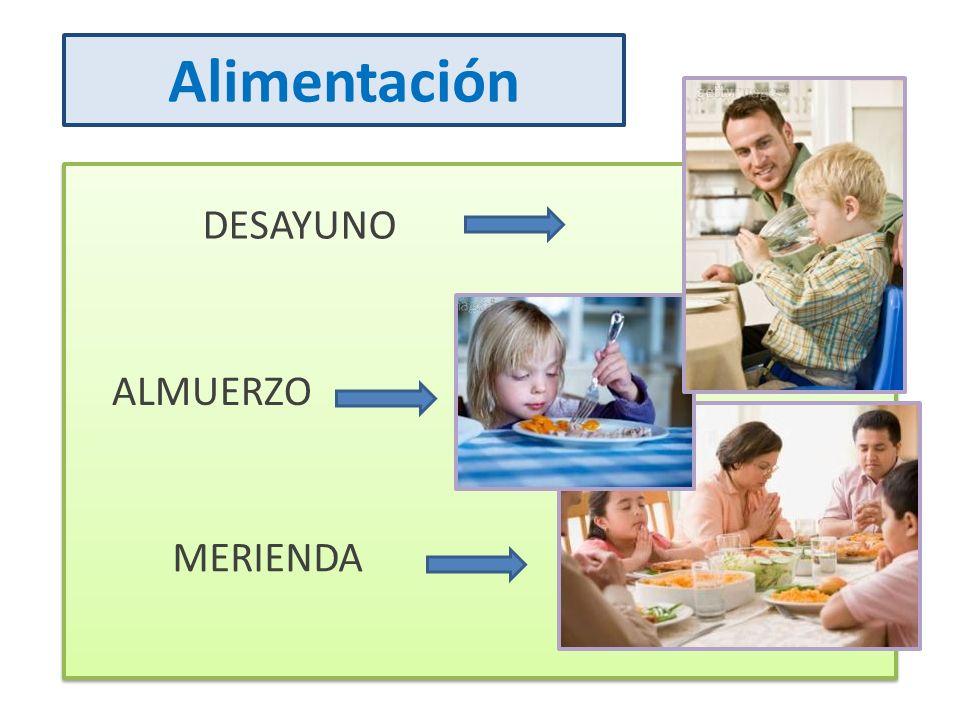 Alimentación DESAYUNO ALMUERZO MERIENDA