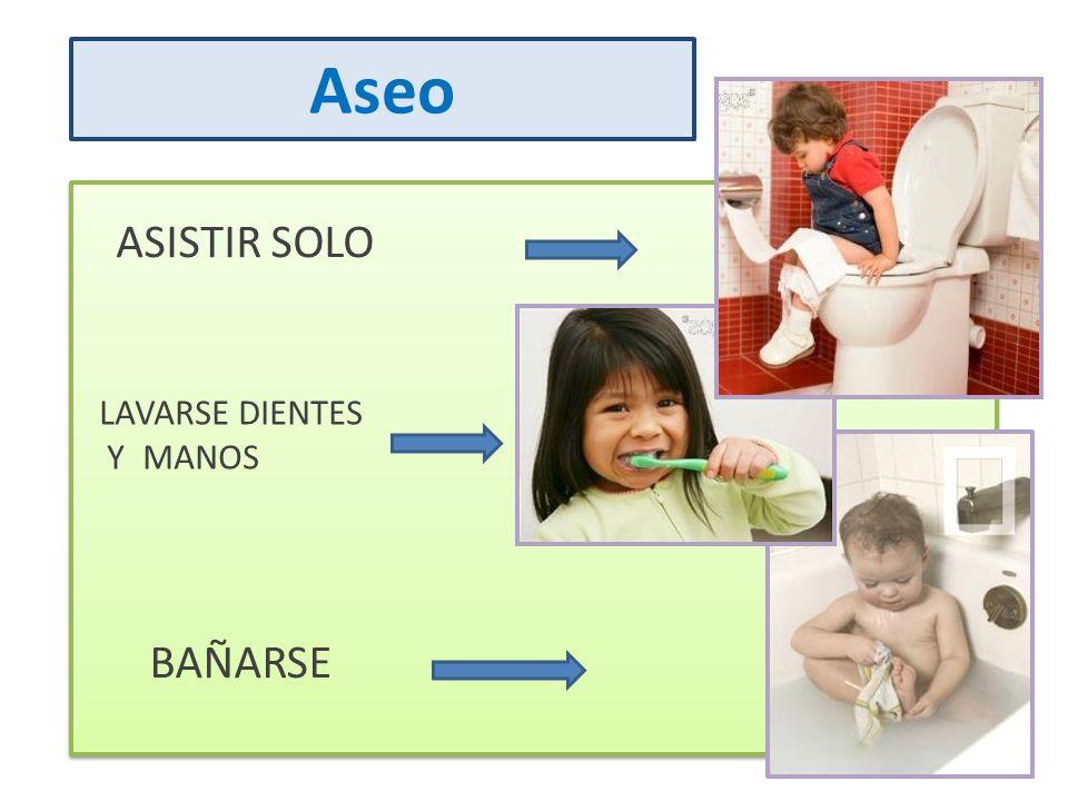 Aseo ASISTIR SOLO LAVARSE DIENTES Y MANOS BAÑARSE
