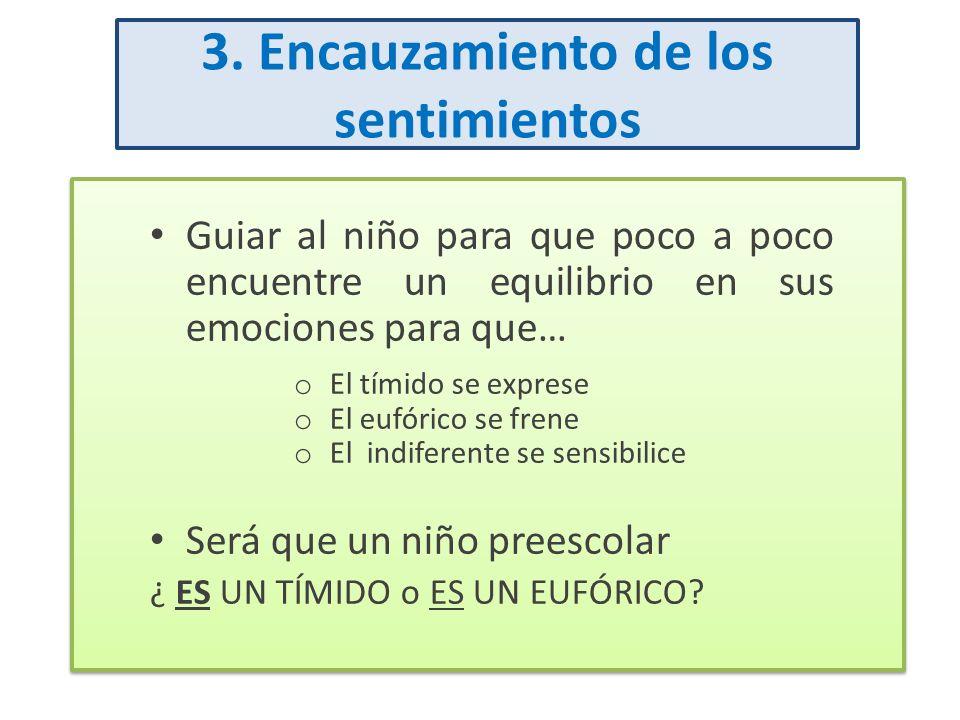 3. Encauzamiento de los sentimientos