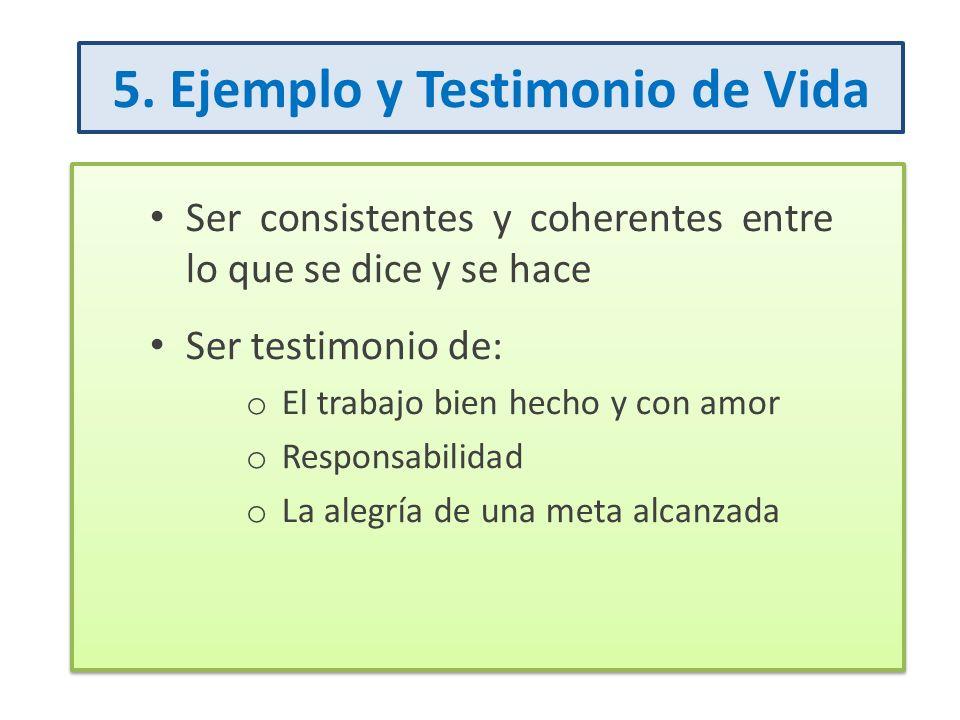 5. Ejemplo y Testimonio de Vida