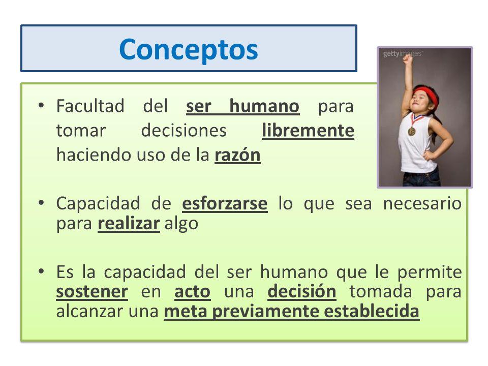 ConceptosFacultad del ser humano para tomar decisiones libremente haciendo uso de la razón.