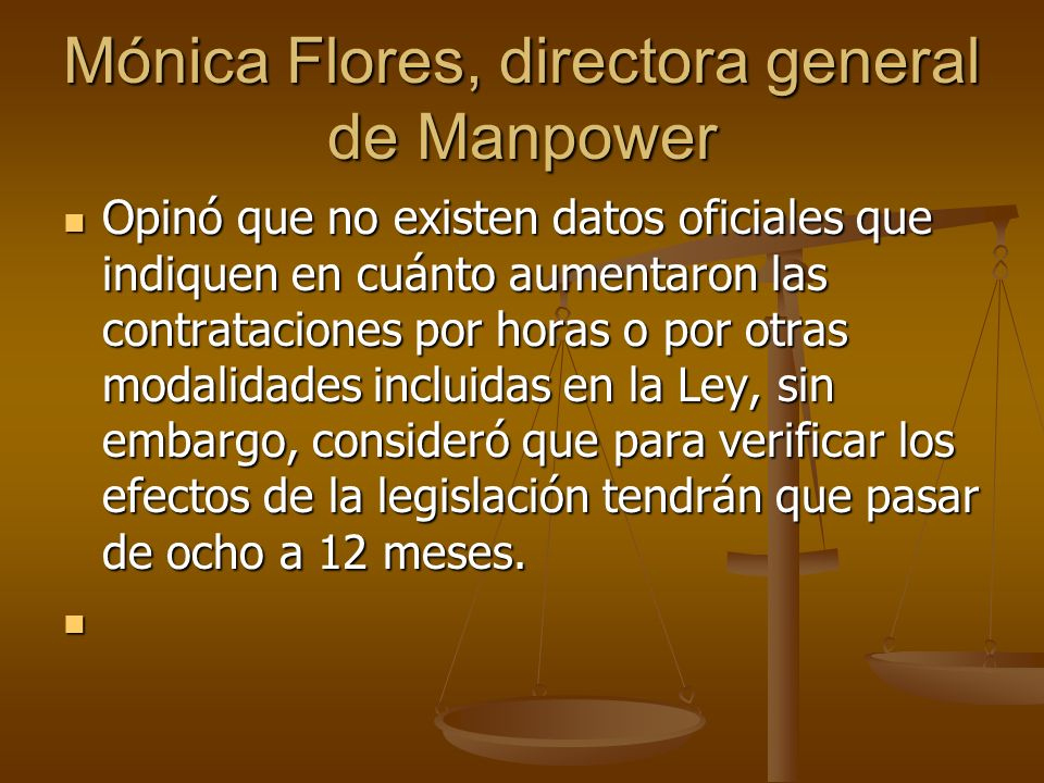 Mónica Flores, directora general de Manpower
