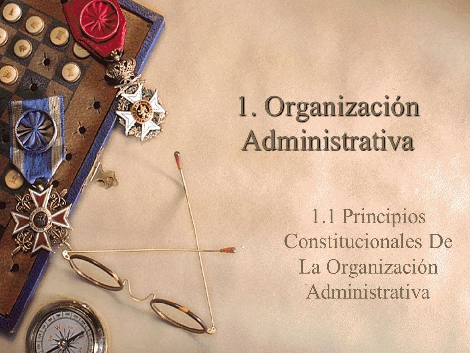 1. Organización Administrativa