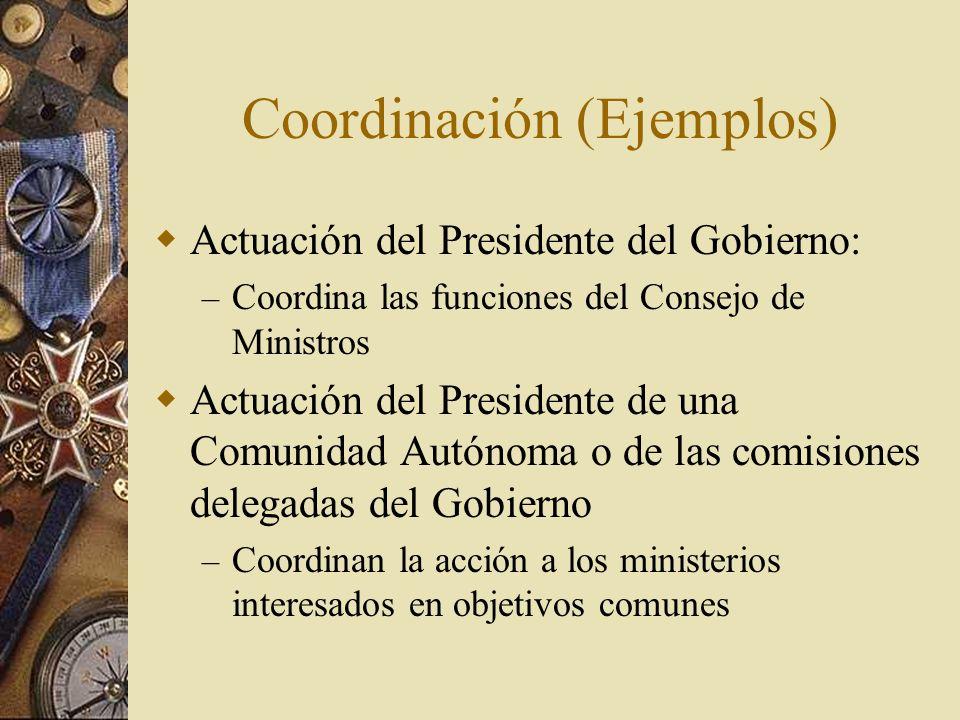 Coordinación (Ejemplos)