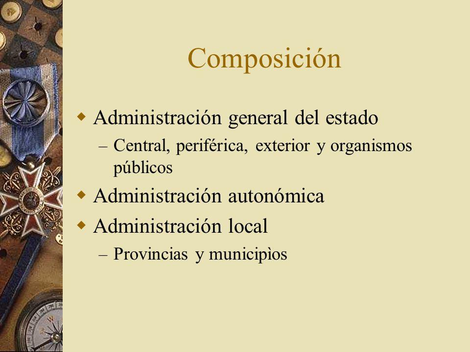 Composición Administración general del estado