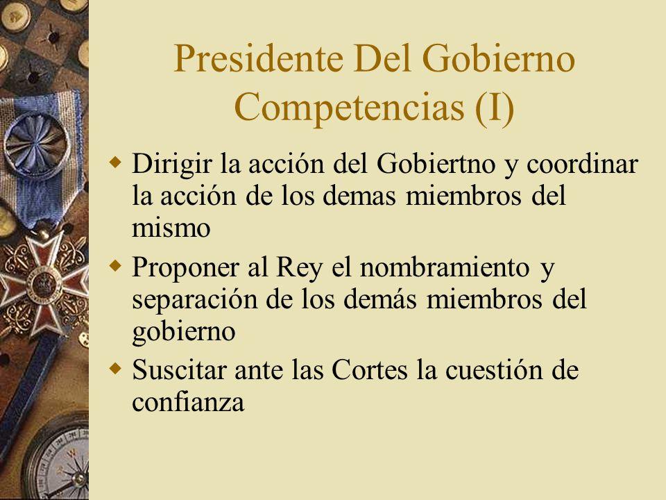 Presidente Del Gobierno Competencias (I)