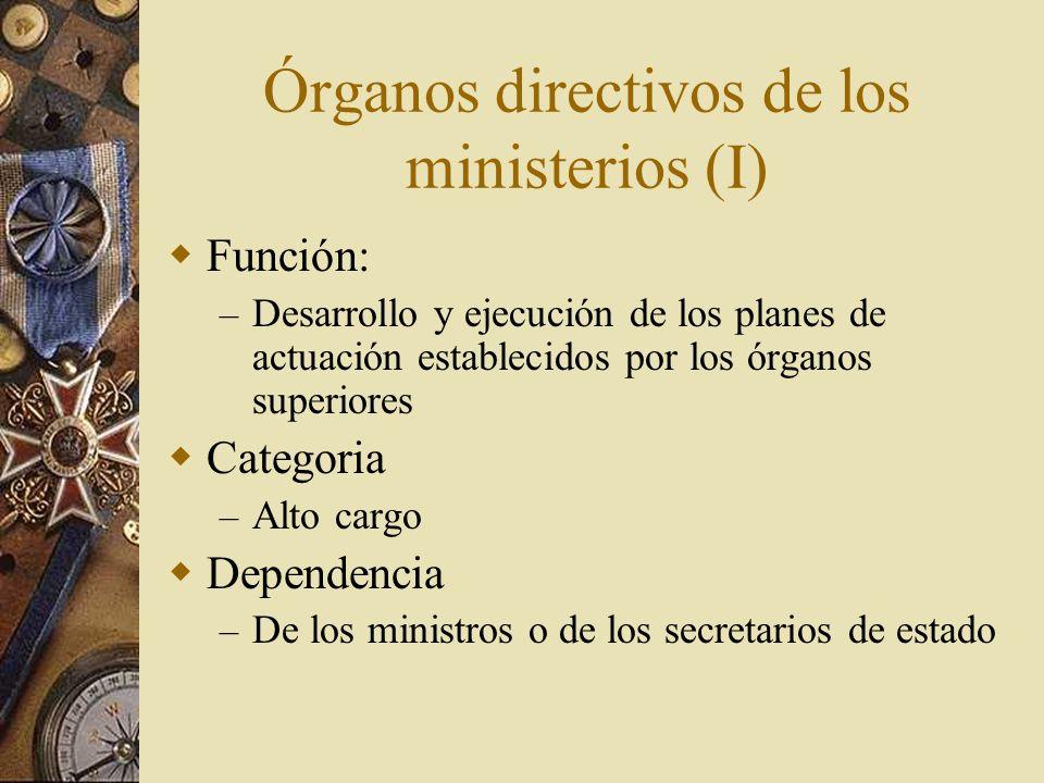 Órganos directivos de los ministerios (I)