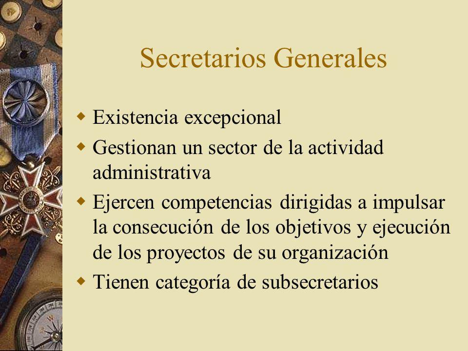 Secretarios Generales