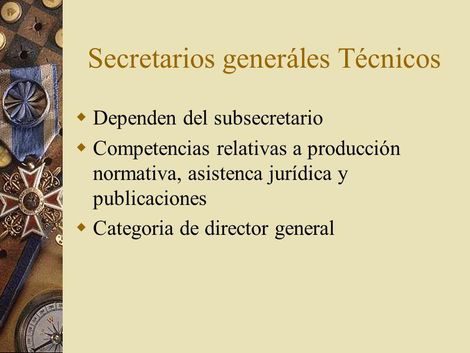 Secretarios generáles Técnicos