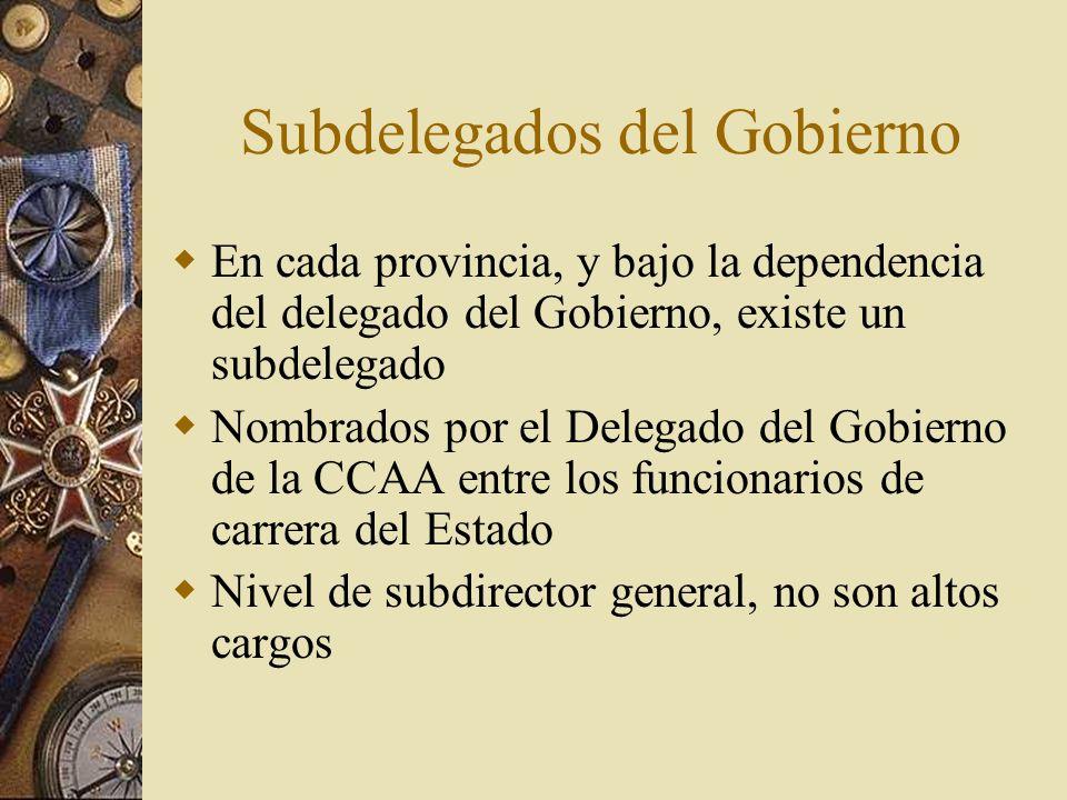 Subdelegados del Gobierno