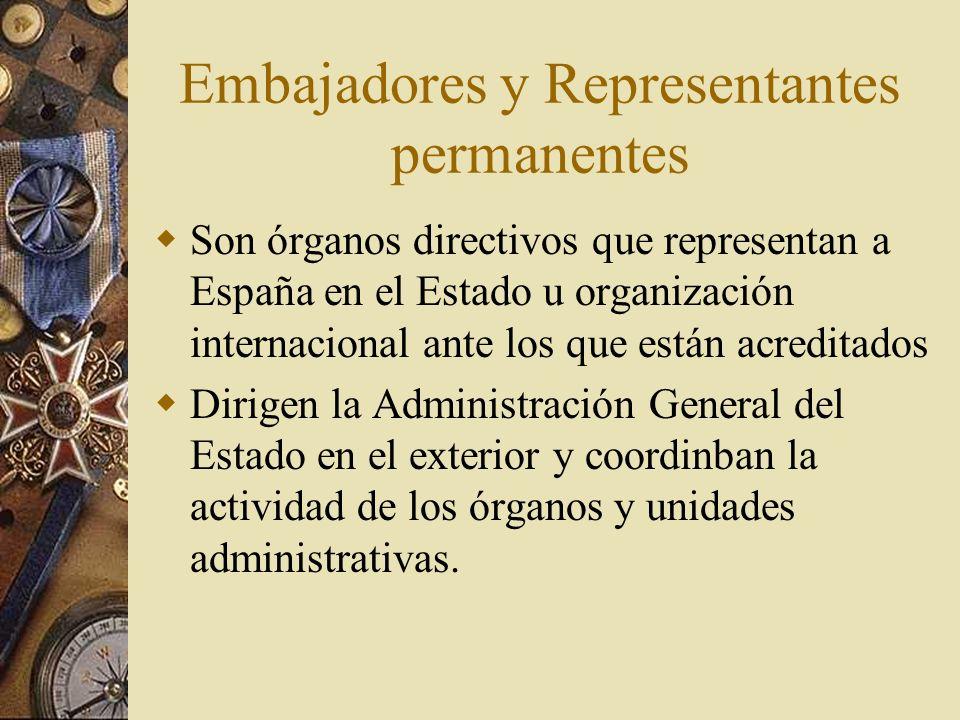 Embajadores y Representantes permanentes