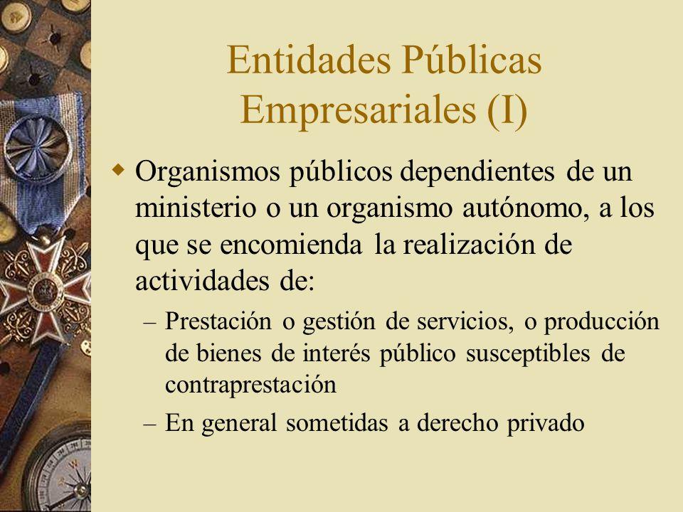 Entidades Públicas Empresariales (I)