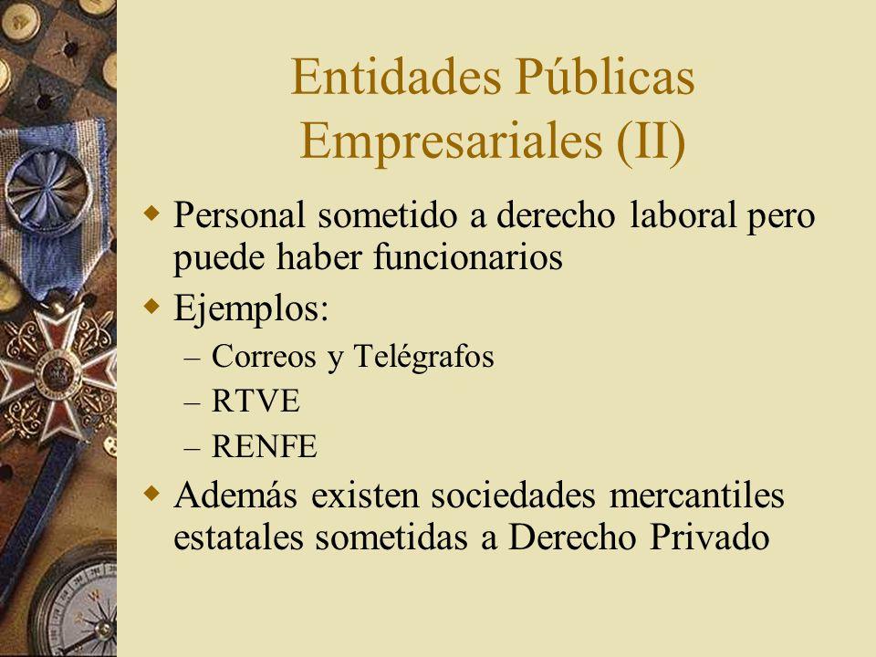 Entidades Públicas Empresariales (II)