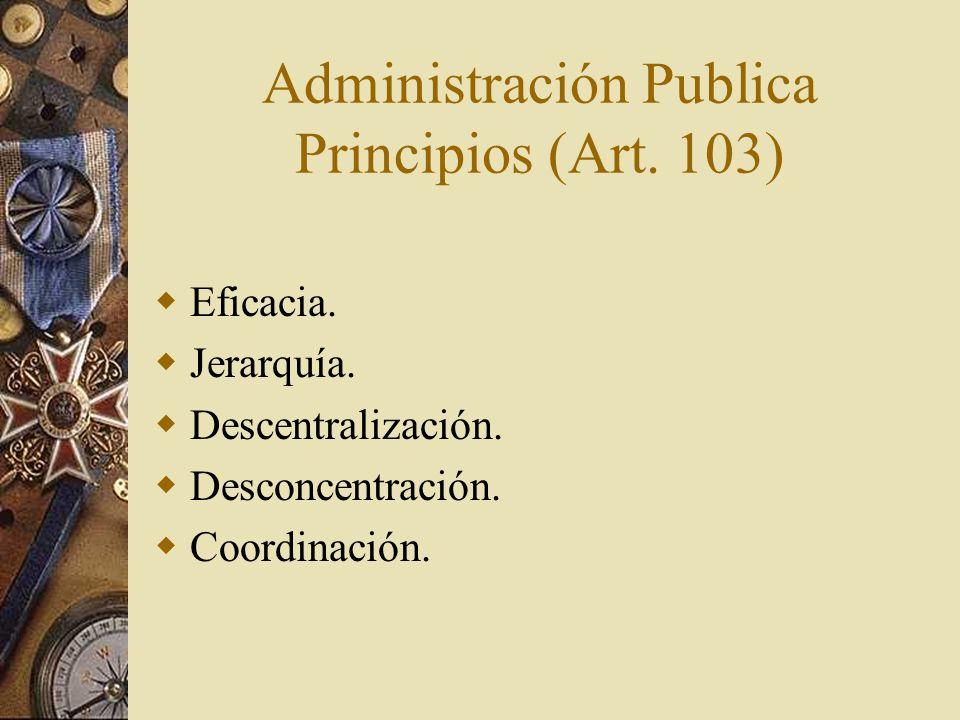 Administración Publica Principios (Art. 103)