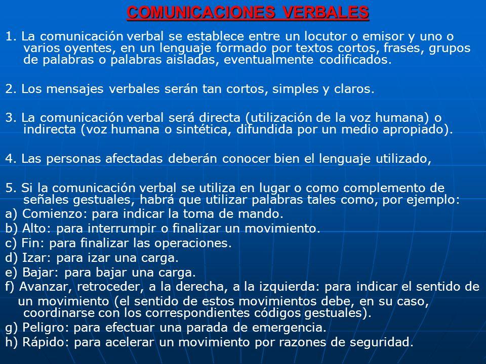 COMUNICACIONES VERBALES