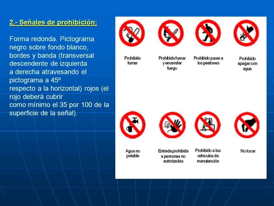2. - Señales de prohibición: Forma redonda