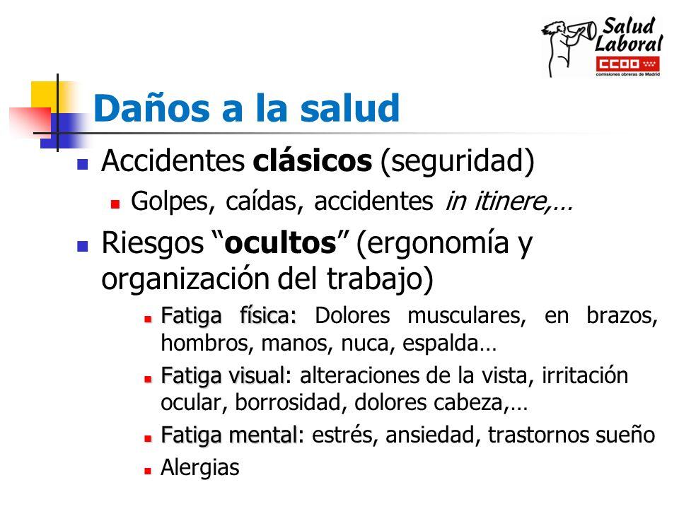 Daños a la salud Accidentes clásicos (seguridad)
