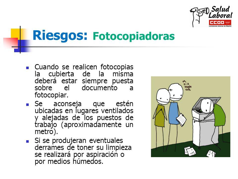 Riesgos: Fotocopiadoras