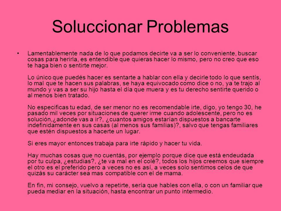 Soluccionar Problemas