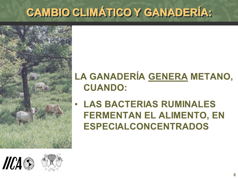 CAMBIO CLIMÁTICO Y GANADERÍA: