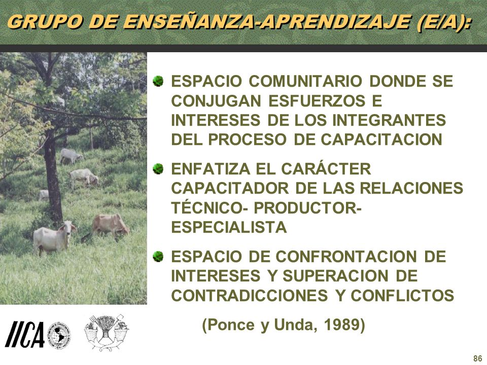 GRUPO DE ENSEÑANZA-APRENDIZAJE (E/A):