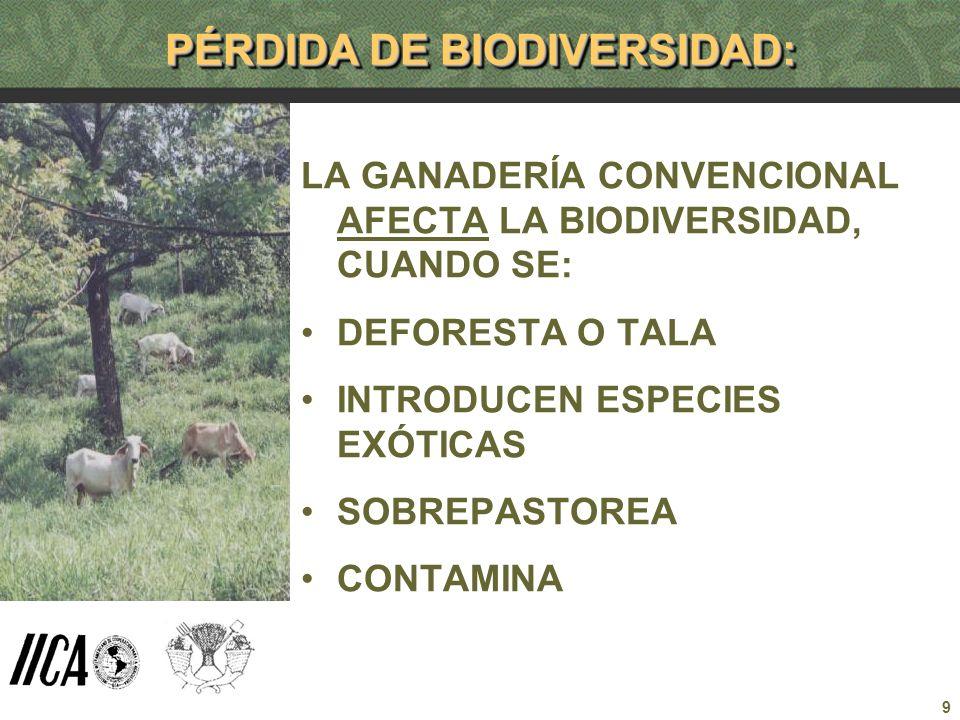 PÉRDIDA DE BIODIVERSIDAD: