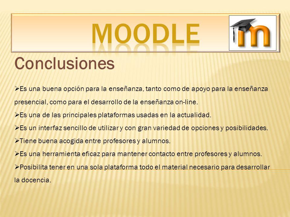 MOODLE Conclusiones.