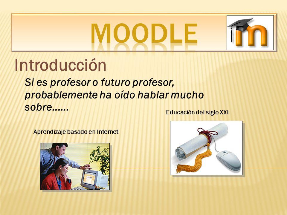 MOODLE Introducción. Si es profesor o futuro profesor, probablemente ha oído hablar mucho sobre......