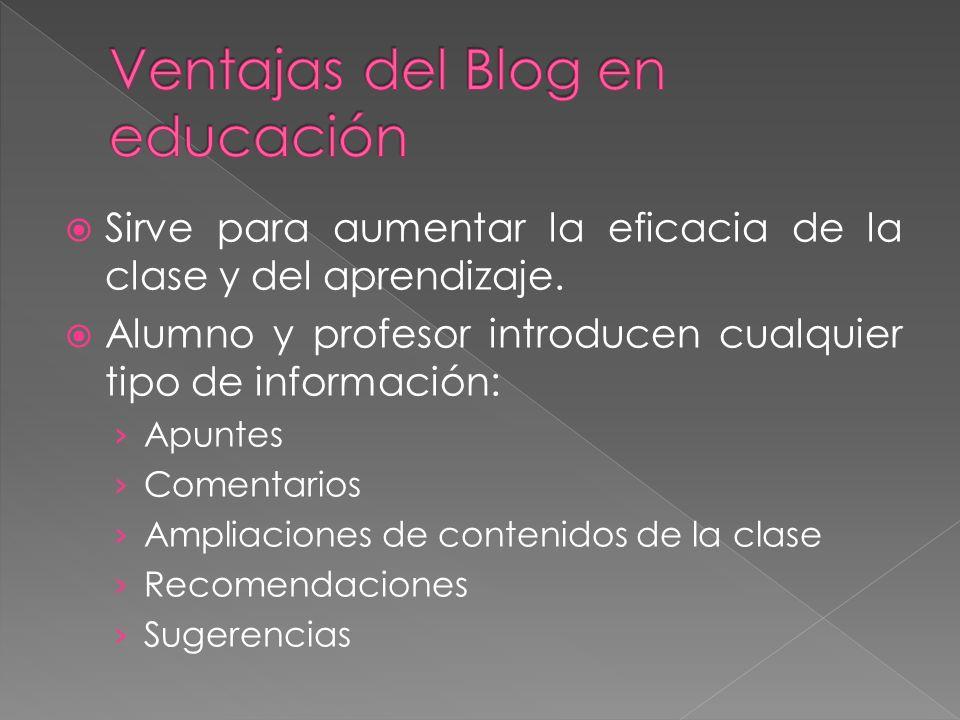 Ventajas del Blog en educación