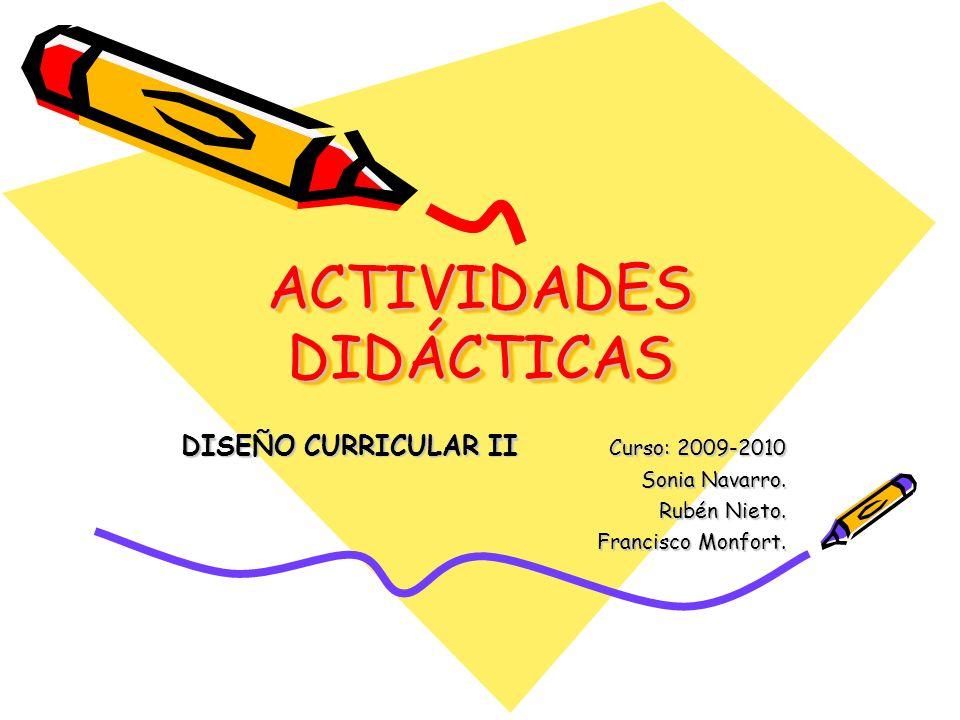 ACTIVIDADES DIDÁCTICAS