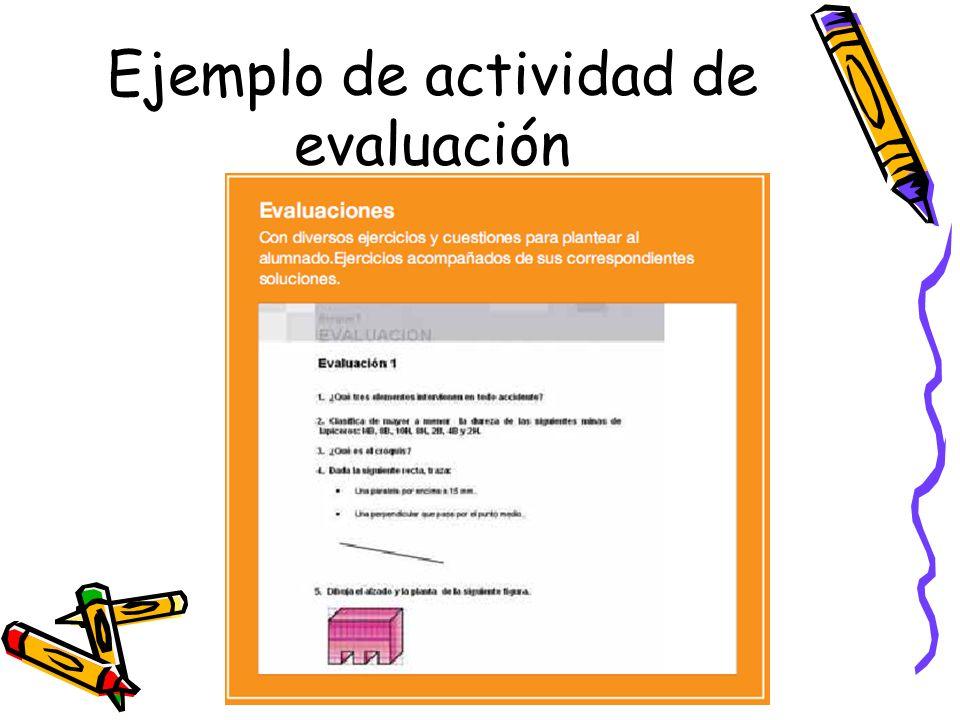 Ejemplo de actividad de evaluación