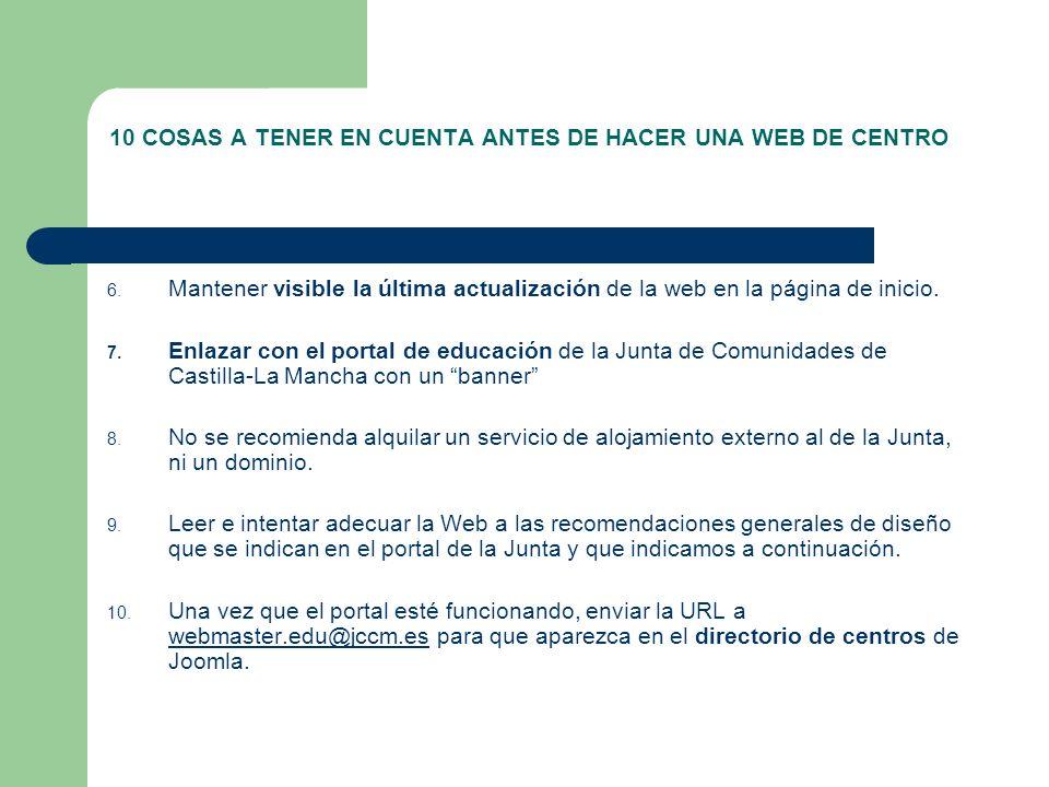10 COSAS A TENER EN CUENTA ANTES DE HACER UNA WEB DE CENTRO