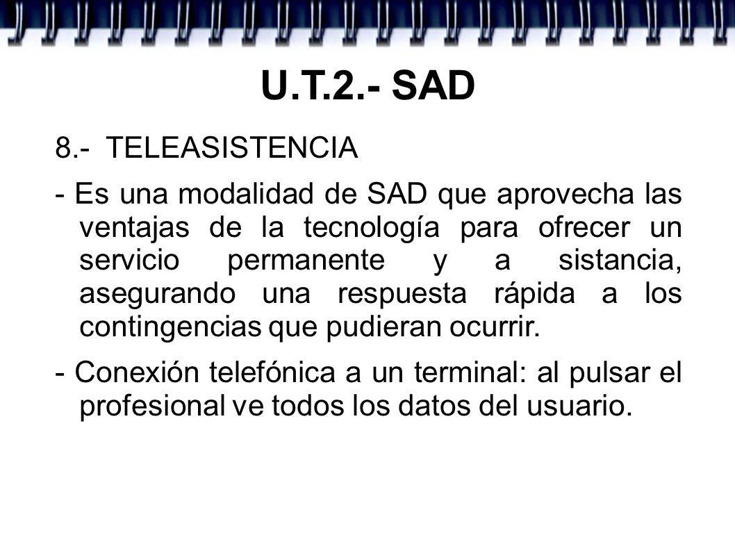 U.T.2.- SAD 8.- TELEASISTENCIA
