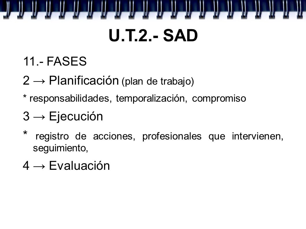 U.T.2.- SAD 11.- FASES 2 → Planificación (plan de trabajo)