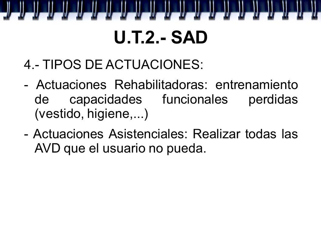 U.T.2.- SAD 4.- TIPOS DE ACTUACIONES: